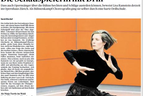 Portrait über Lisa Ramstein (Tages-Anzeiger, Bellevue, 13.5.15)
