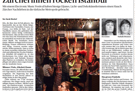 Zürcherinnen rocken Istanbul - Artikel über Les Belles de Nuit (TA, 14.5.14)