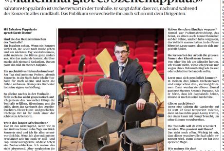 """""""Manchmal gibt es Szenenapplaus"""" - Interview mit Orchesterwart Salvatore Pappalardo (TA, 2.3.15)"""