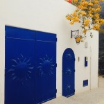 During the next few months all of the houses in the region of Agadir have to be repainted in blue and white. Crazy.